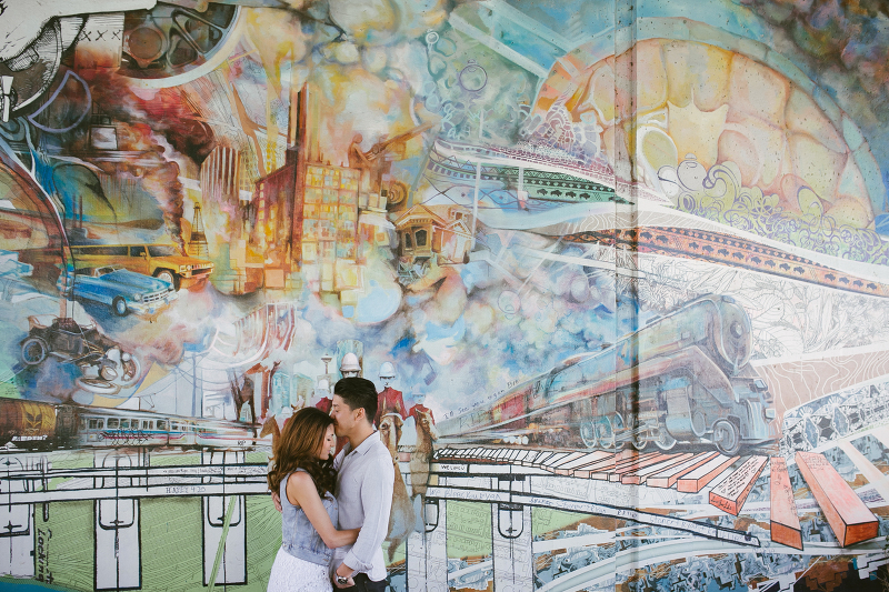 Downtown Calgary Engagement | Laura Barclay Photography | Calgary Wedding Photographer | East Village Graffiti