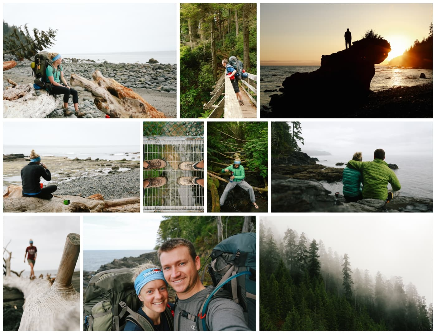 Pictures from a couple who are hiking the Juan de Fuca trail for their honeymoon