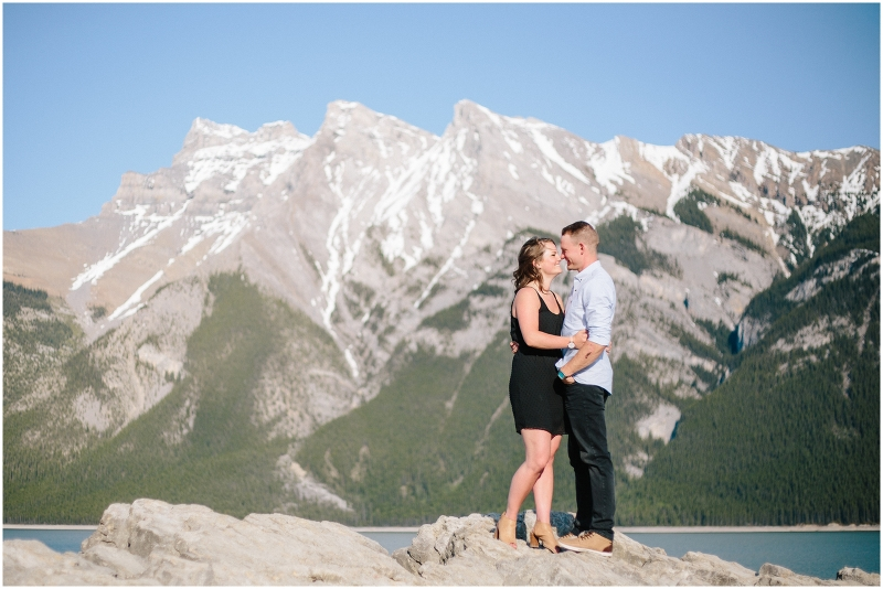 Lake Minnewanka Engagement Session in Banff National Park